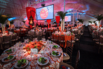 Fundraising Event with custom decorations and lighting
